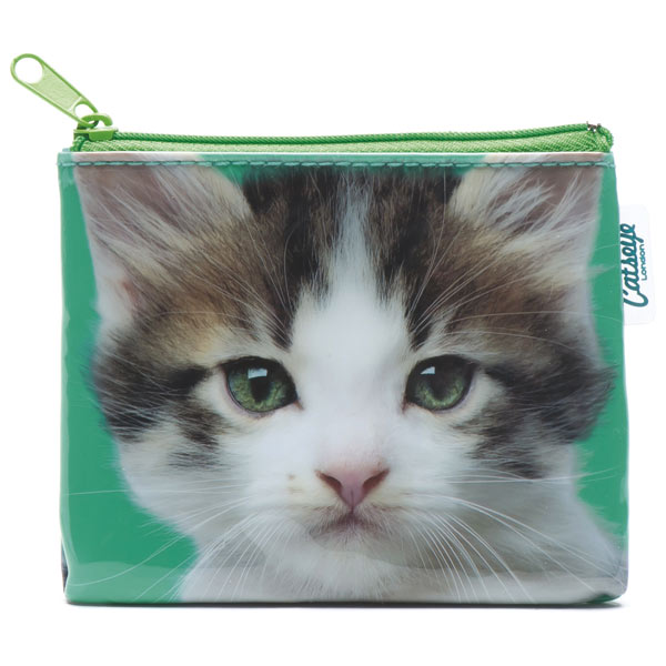 Kitten on Green Coin Purse