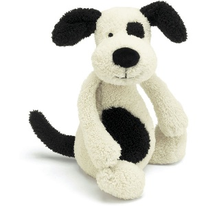 Bashful Black & Cream Puppy Chime