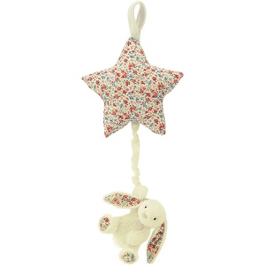 Blossom Bashful Cream Bunny Star Musical Pull