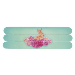 Bunny on Flowers Nail Files
