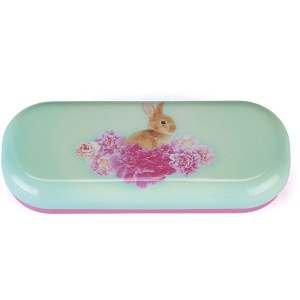 Bunny on Flowers Glasses Case