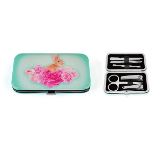 Bunny on Flowers Nail Care Set