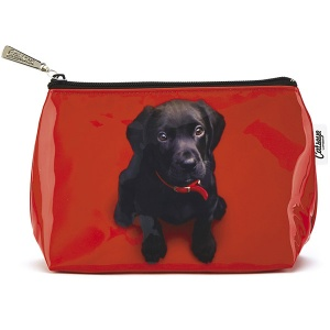 Black Lab on Red Small Bag