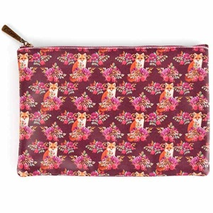 Fox Print Large Flat Bag
