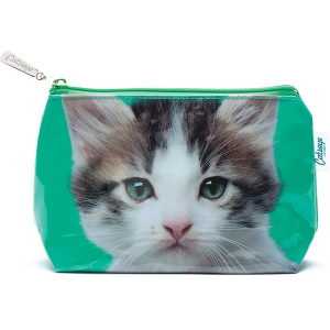 Kitten on Green Small Bag