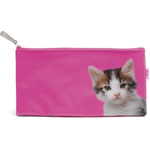 Kitten on Hot Pink Long Bag