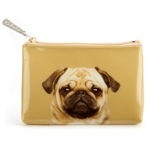 Pug on Caramel Pouch