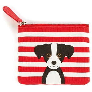 Red Cotton Dog Coin Purse