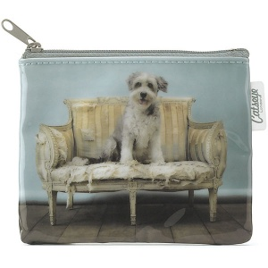 Sofa Dog Zip Purse