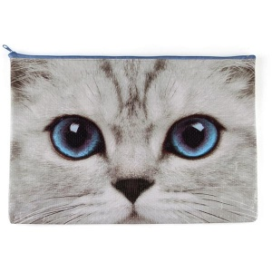 Silver Kitty A4 Pouch
