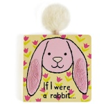 If I Were A Rabbit Board Book (Tulip Pink)