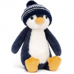 Bashful Navy Bobble Hat Penguin