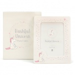 Bashful Unicorn Ceramic Photo Frame
