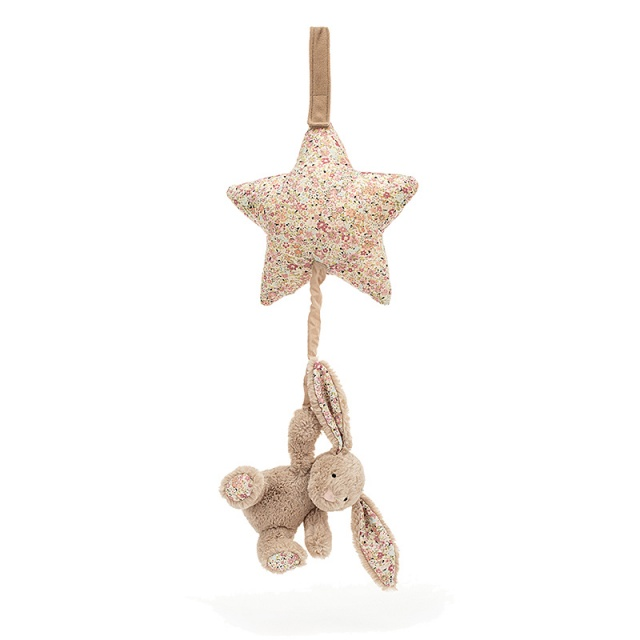 Blossom Bea Beige Bunny Star Musical Pull