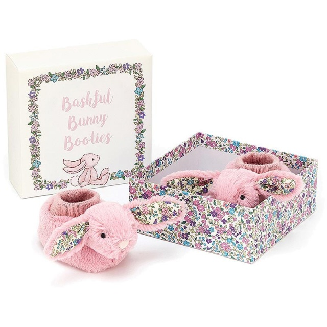Blossom Tulip Pink Bunny Booties