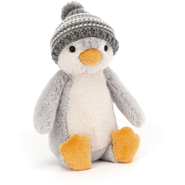 Bashful Grey Bobble Hat Penguin