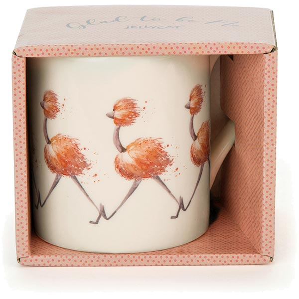 Glad to be Me Ostrich Pink Mug