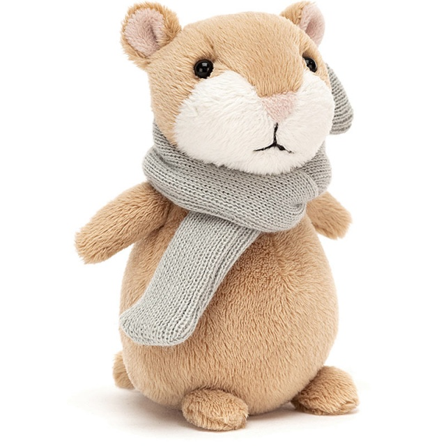 Happy Cinnamon Hamster with Scarf