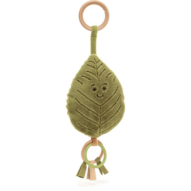 Woodland Beech Leaf Teething Ring & Rattle