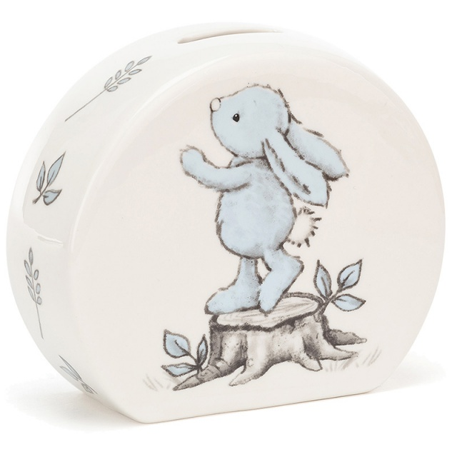 Bashful Blue Bunny Ceramic Money Box