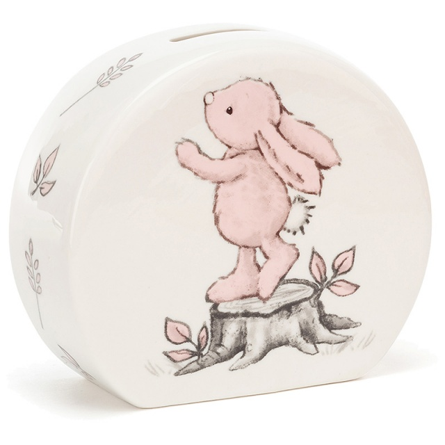 Bashful Pink Bunny Ceramic Money Box