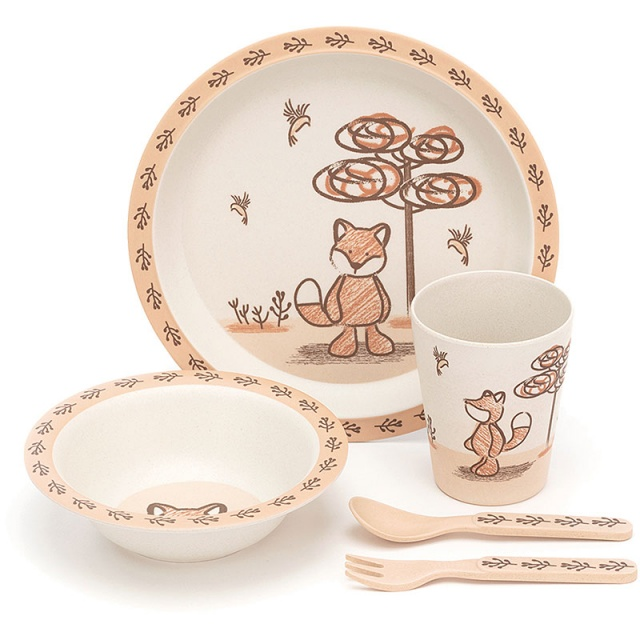 My Friend Fox Bamboo Bowl Set