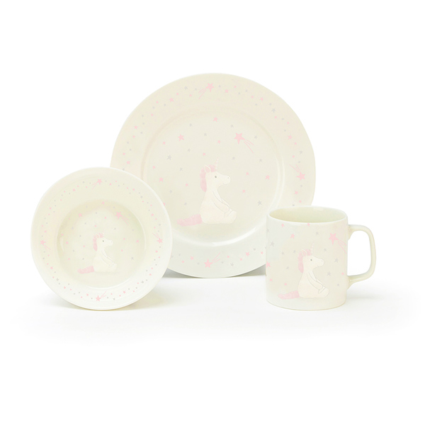 Bashful Unicorn Ceramic Bowl Set