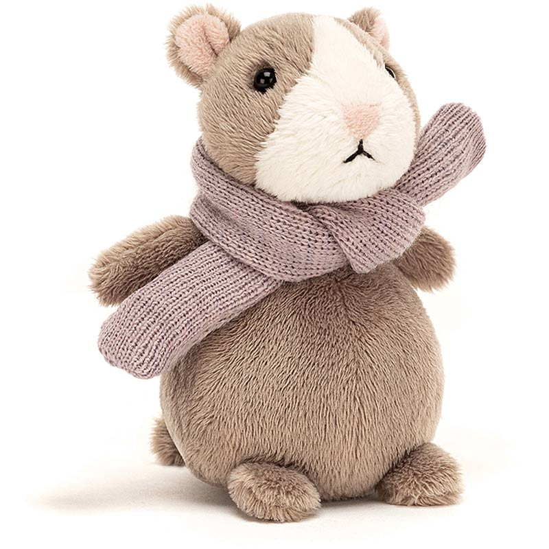 Happy Nutmeg Hamster with Scarf