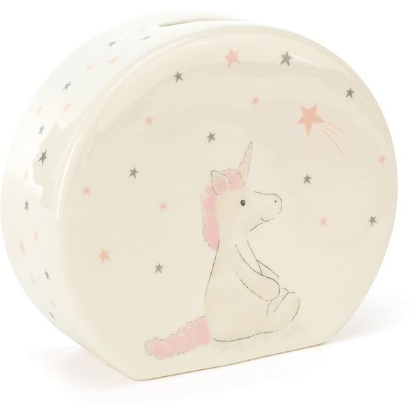 Bashful Unicorn Ceramic Money Box
