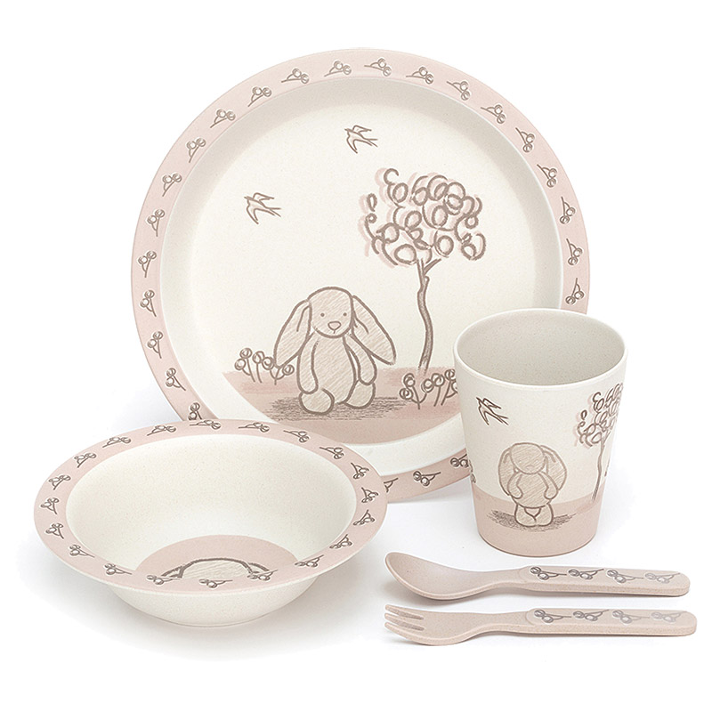 My Friend Bunny Bamboo Bowl Set