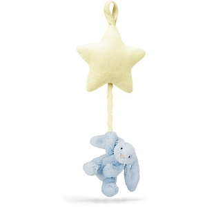 Bashful Blue Bunny Star Musical Pull