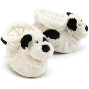 Bashful Black & Cream Puppy Booties