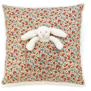 Blossom Bashful Cream Bunny Cushion