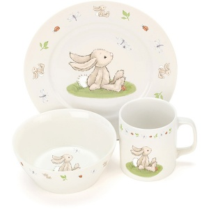 Bashful Bunny Ceramic Bowl Set