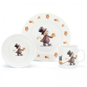 Bashful Monkey Ceramic Bowl Set