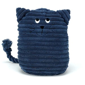 Blue Kitty Doorstop