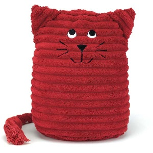 Red Kitty Doorstop