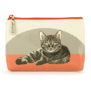 Etching Cat Make-Up Pouch