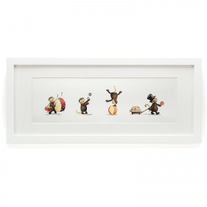 Bashful Monkey Framed Print