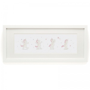 Bashful Unicorn Framed Print