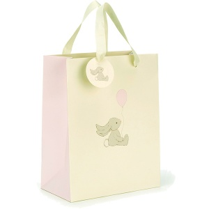 Jellycat Bashful Pink Bunny Gift Bag & Message