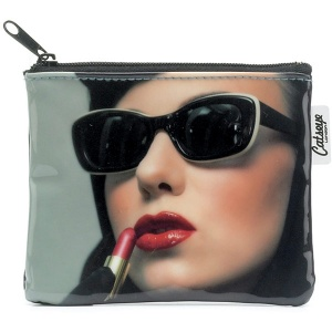 Lipstick Woman Zip Purse