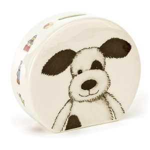 Bashful Puppy Ceramic Money Box