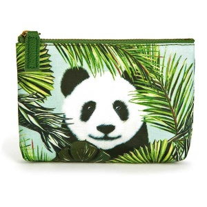 Panda in Palms Make-Up Pouch