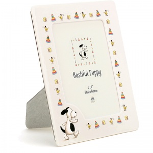 Bashful Puppy Ceramic Photo Frame