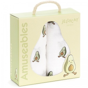 Amuseables Avocado Muslin Cloths