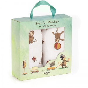 Bashful Monkey Muslin Cloths