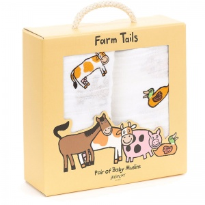 Farm Tails Muslin Cloths