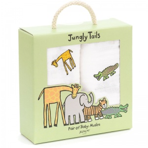 Jungly Tails Muslin Cloths