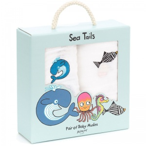 Sea Tails Muslin Cloths